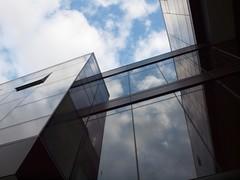 Paccar Hall - University of Washington (lauren_rabe) Tags: seattle windows sky reflection window architecture washington university business universityofwashington paccar paccarbuilding businesshall