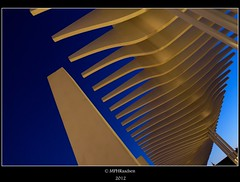 Geometry in blue (mraadsen) Tags: blue haven canon eos evening spain harbour geometry malaga spanje geometrie 550d 1585mm mraadsen