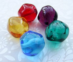 Crown Jewels (Glittering Prize - Trudi) Tags: pink blue green glass yellow golden amber beads rainbow purple crown jewels lampwork