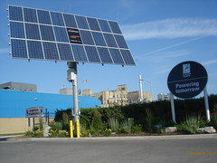 Solar Panel - Labatts Plant in Background