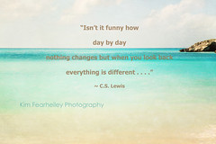 Day by day . . . (KimFearheiley) Tags: nautical ocean blue teal sea typography words quote nature sky inspirational cslewis daybyday change everythingisdifferent kimfearheileyphotography