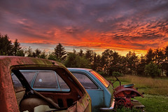 Old cars in the sunset II (noergaard) Tags: sunset cars hdr niksoftware