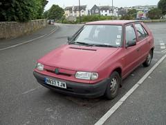 Skoda Felicia (occama) Tags: red car felicia cornwall 1996 faded 1995 dull skoda ols n837tjw