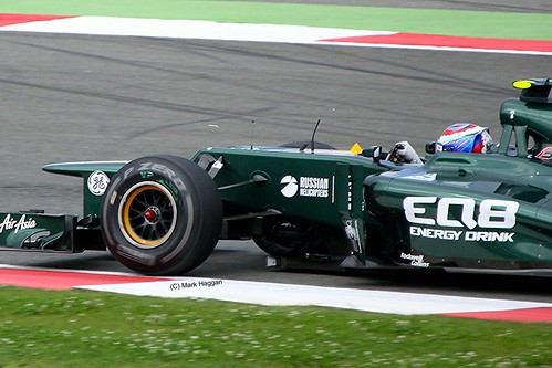 Vitaly Petrov's Caterham at Silverstone
