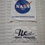 Signage on the outside wall of the Inflatable Lunar Habitat