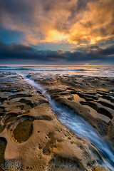 La Jolla (Eddie 11uisma) Tags: california sunset seascape beach clouds canon landscape golden la san mark iii diego workshop hour nd l 5d f4 1740 jolla variable lightcraft