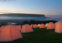 Peace Camp Dawn (amberlight1) Tags: light camp mist sisters sussex seven cuckmere