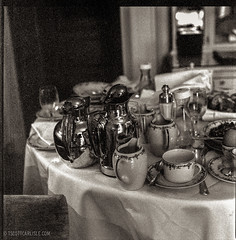 Breakfast at The Ritz Paris (T. Scott Carlisle) Tags: blackandwhite bw paris romance hasselblad ritz delta3200 elegance tsc tscottcarlisle tscottcarlislecom