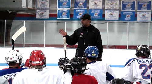 Brad Perry coaching a hockey school in Chicago  23
