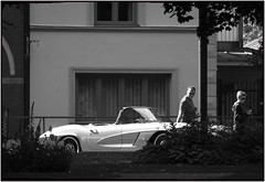 Vette in blanco y negro (karlstad Igr) Tags: bw cab convertible corvette