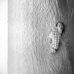 The Cross Over (Simon McCheung) Tags: ocean sea portrait white black beach water swim self square waves ship sleep dream 365 float ambition drift selfie submerge