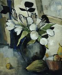 Bouquet blanc au miroir (benita-loca) Tags: fleurs bouquet oiloncanvas contemporarypainter