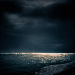 Rarotonga (Mathieu Chardonnet) Tags: ocean blue sunset sun fish beach way stars island islands holidays mood pacific cook milky