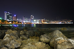 Haeundae (- MH -) Tags: reflection beach night busan southkorea pusan haeundae coredusud