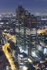 Tokyo 2200 (jasohill) Tags: building japan night japanese tokyo shinjuku long exposure future backgrounds     infinite