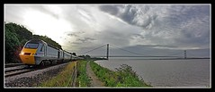 Morning Glory (SydPix) Tags: cloud car sunrise river grey dawn coast power diesel trains estuary locomotive railways humberbridge humber foreshore eastcoast hst hessle ferriby class43 43296 sydyoung