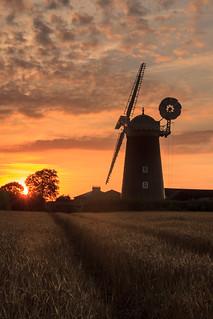 Pakenham Windmill at sunset