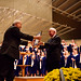 "<b>Homecoming Concert 2012: Weston Noble Award Presentation</b><br/> Photo by Zach Stottler Pictured Above: Dr. Weston Noble, past conductor of the Luther College Nordic Choir presents the Weston Noble Award to Bruce Tammen.<a href=""http://farm8.static.flickr.com/7261/8074741572_a50f3e83ee_o.jpg"" title=""High res"">∝</a>"