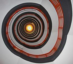 corkscrew stairs looking up (vil.sandi) Tags: circle hamburg staircase wendeltreppe kontorhaus sprinkenhof fritzhöger hansundoskargerson 1927bis1943erbaut