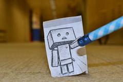 Don't Erase Me (MCrow32) Tags: blue pencil robot paperdanbo pencilvscamera