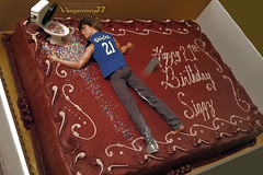 Birthday cake idea - custom personalized Ken doll T shirt made by Hegemony77