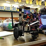 A robot car built by a Westminster student