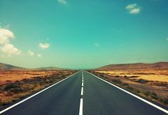 Road to the sea (JLL85) Tags: road naturaleza sun sol way landscape desert camino carretera fuerteventura dry paisaje desierto asfalto seco arido