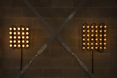 Symmetric light (elenamalossini) Tags: light italy milan geometric yellow wall bulb design nikon geometry interior illumination indoor installation bulbs symmetric designweek
