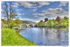 The Tay at Dunkeld (mistinguette.mistinguette) Tags: bridge trees sky water clouds river scotland perthshire tay riverbanks