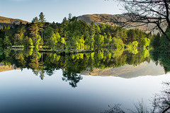 Green Reflections (weejohnmurray) Tags: blue water reflections landscape scotland scottish glen glencoe loch lochan summe