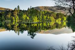 Green Reflections (weejohnmurray) Tags: blue water reflections landscape scotland scottish glen glencoe loch lochan summe
