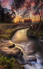 The Mill (paulosilva3) Tags: sunset mill portugal glass colors forest landscape twilight lee pro waterscape polariser riverscape lourosa