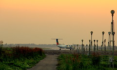 ~about to fly~ (~~ASIF~~) Tags: sunset color green skyline plane fly outdoor runway canon60d