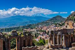 Ancient View (Karosei) Tags: travel italy sun island italia sightseeing sicily taormina turismo sicilia itali reizen turist toerist sicili toerisme 2016karoseiphotography