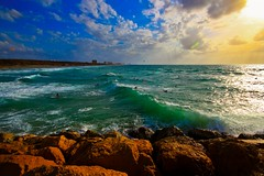 The South Beach - Heartzelia - Israel (Lior. L) Tags: travel sea sky nature clouds israel mediterranean mediterraneansea breakwater thesouthbeach thesouthbeachheartzelia heartzelia