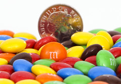 mmmmm M&M's (Skyline:)) Tags: food color colour colors colorful colours candy sweets colourful macromondays smallerthanacoin