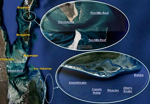 Dive sites map