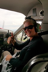 Right seat in our bush plane heading to the backcountry of Denali NP