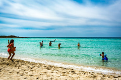 Seascape - Italy (fabioseda) Tags: ocean blue sea summer people italy sun seascape sol praia beach children fun mar italia waves natureza paisagem porto puglia sul portocesareo cesareo 500px lidoledune