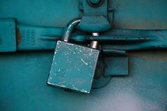 Locked (Shantasphotos) Tags: metal iron lock blu turquoise sheet padlock locked