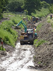 Canal restoration - the Wendover Arm near Miswell (Snapshooter46) Tags: chilterns grandunioncanal civilengineering wendoverarm grandjunctioncanal wendoverarmtrust canalrestoration canalrivertrust abandonedwaterway