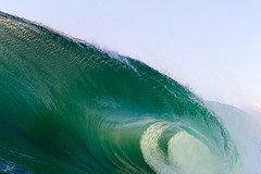 Green Wedge (David Field (Sydney)) Tags: new travel light green nature sport wales canon amazing perfect surf power south awesome tube barrel wave australia surfing spray clean rivers mornings backlit shallow northern swell wedge aquatech