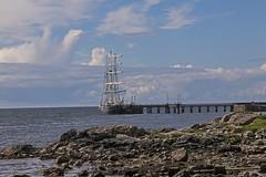 Bruichladdich 2016 (18) (Yorkshire Reckless & Proud) Tags: blue sea cloud sun lighthouse white yellow ferry port landscape photography bay boat photo sand stag harbour whiskey inner deer hills islay jura bouy distillery hebrides bruichladdich saligo kilhoman weymms