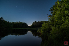 Stars in the Gap (Mitymous) Tags: longexposure moon night reflections moonlight explored tullylake zeiss21 summer16