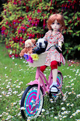Olive's Bike (Lucy-Loves?) Tags: doll olive bjd ganga balljointeddoll dollstown dollstown7
