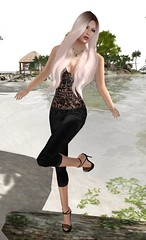 Let's Go to the Beach (Kat the Desert Girl) Tags: moon hair necklace lace secondlife vest luxe capris freebie cmore groupgift kustom9 ruamodena
