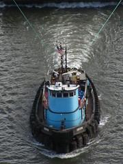 Tug (historygradguy (jobhunting)) Tags: blue ny newyork water river boat upstate down poughkeepsie tugboat hudsonriver dutchesscounty hudsonvalley