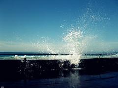 Waves Breaking (Lynn.Kehat) Tags: sea beach water waves wave splash splashing