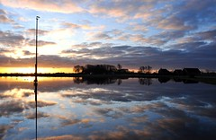 Back from ice to water (powerfocusfotografie) Tags: light sky reflection water netherlands clouds landscape symmetry icerink ijsbaan henk usquert nikond90 powerfocusfotografie