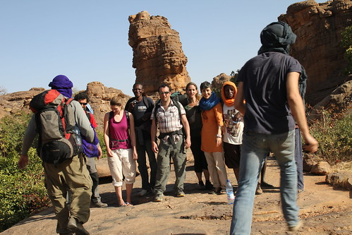 Tourists in Dogon Country